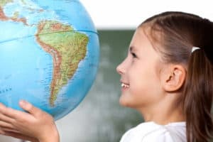 Child girl geography