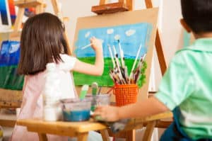 Child painting art