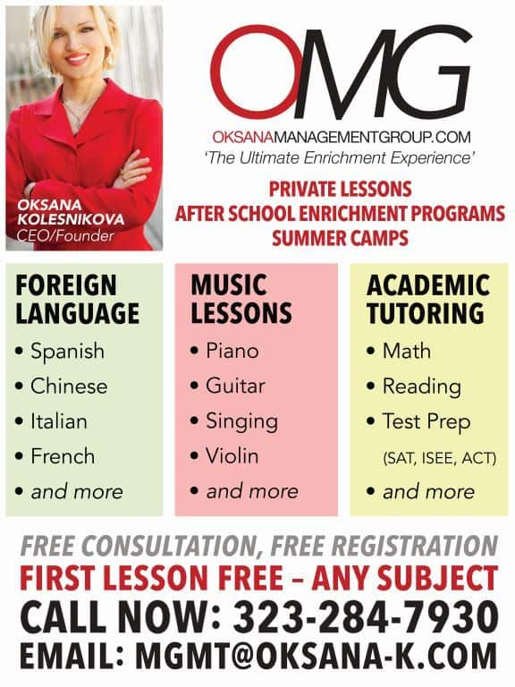 OMG Flyer Tutoring Languages Music Art Lessons
