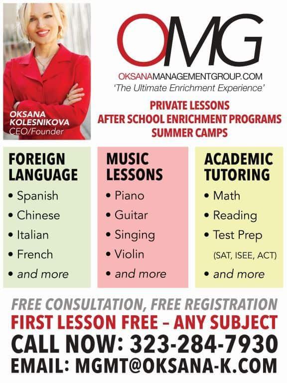 OMG Flyer Tutoring Languages Music Art Lessons
