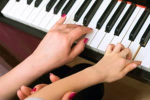 Piano teacher student