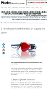 PIanist Magazine - 5 health benefits of playing piano