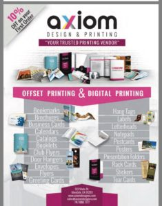 Axiom Design & Printing Ad