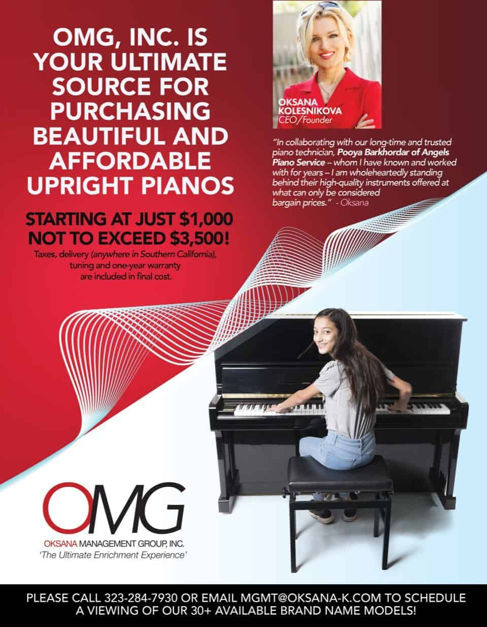 OMG endorsed pianos