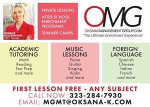 OMG Inc. Tutoring Music Lessons Languages