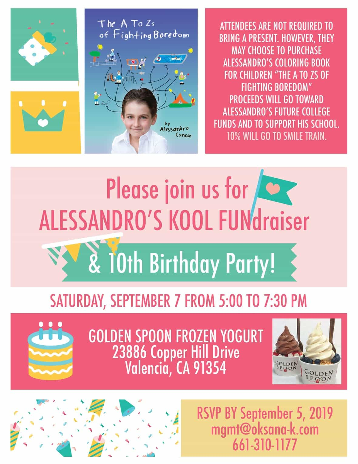 Alessandro 10th Birthday FUNdraiser