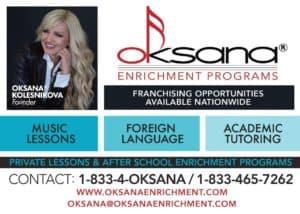 Oksana Enrichment Franchise Ad