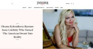 Oksana on Insiderlyfe
